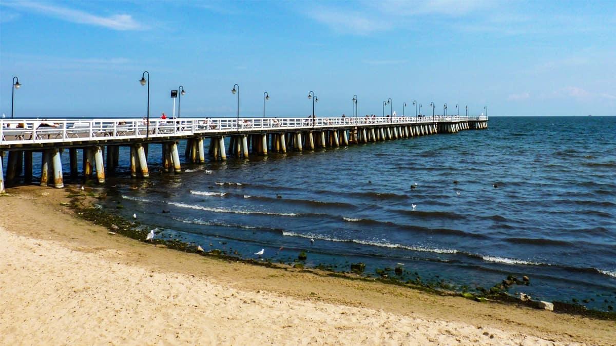 Gdynia Orlowo Pier, at Gdynia Orlowo beach