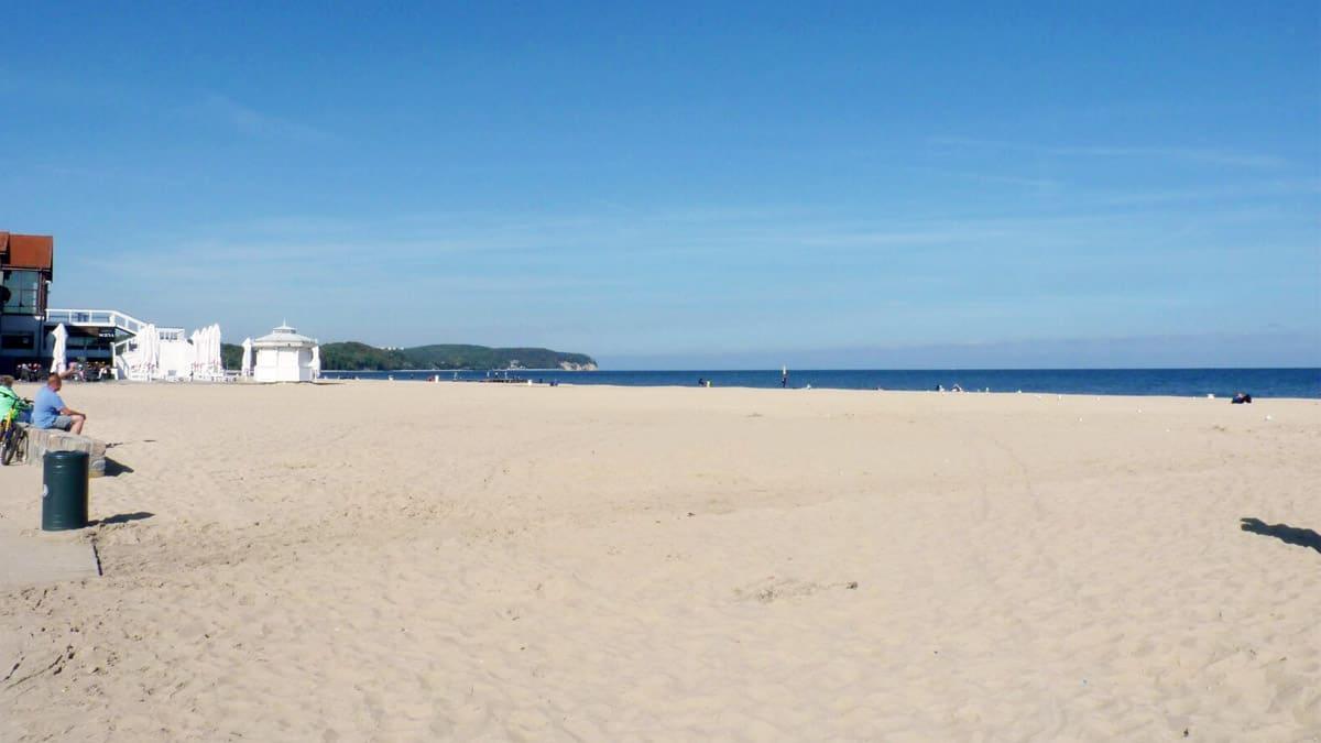 Sopot beach on a sunny day