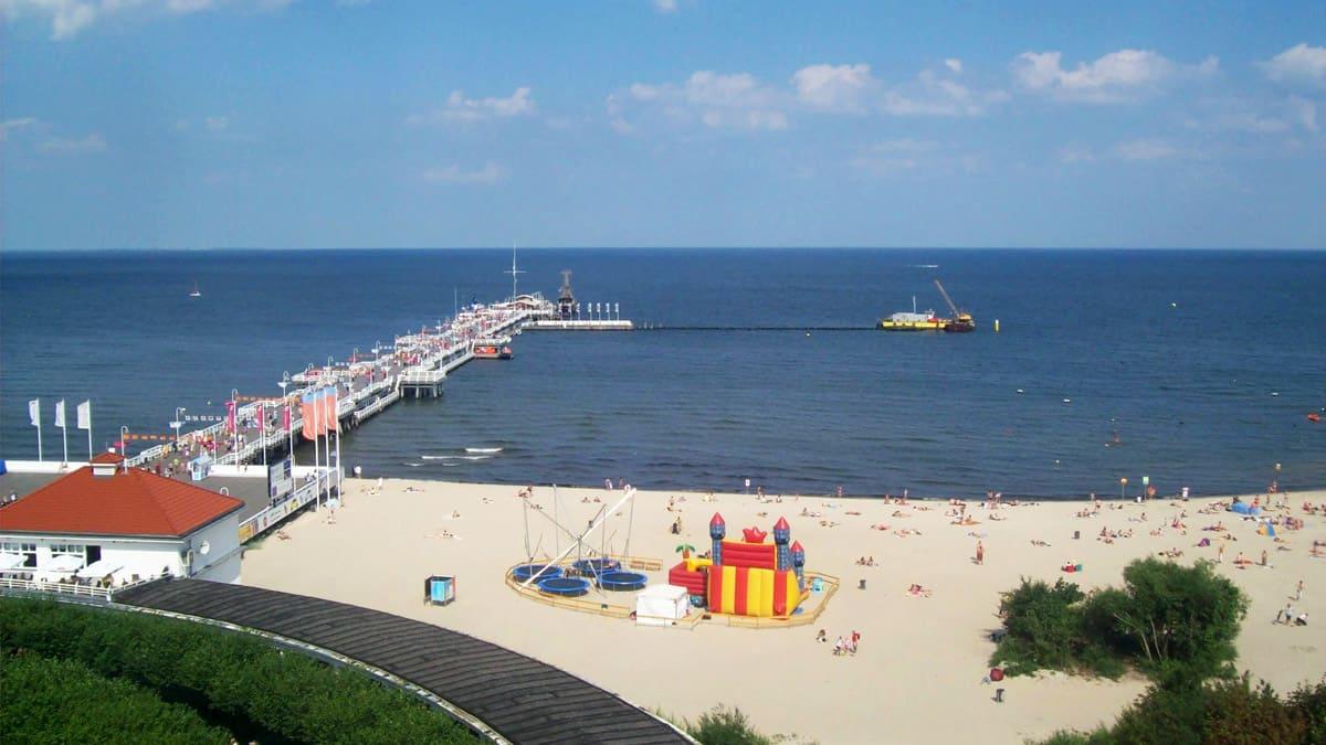 Sopot pier and Baltic Sea