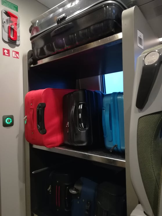 space for luggage in pendolino trains