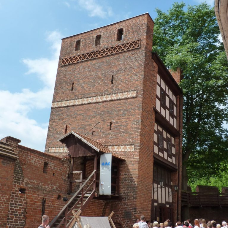 the Leaning Tower of Toruń