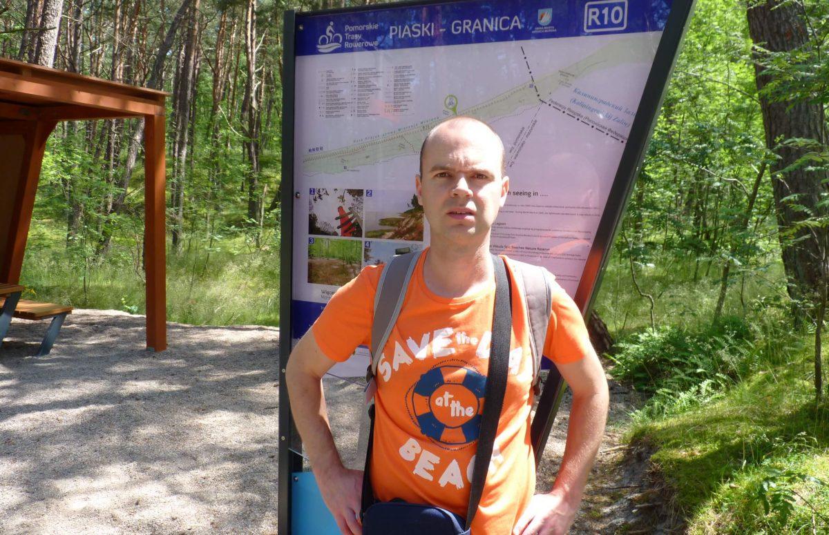 Polish-Russian border in Piaski